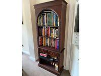 Mahogany Tall Bookcase with 2 shelves