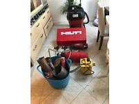 HILTI DRILLING EQUIPMENT with water and dust extraction