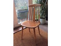 4x Vintage Wooden Dining Chairs