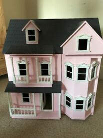 Victorian Style Dolls House with some furniture and accessories