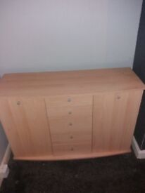 Large tv beech cabinet for sale