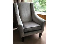 John Lewis Velvet Armchair - as new, cost £1700