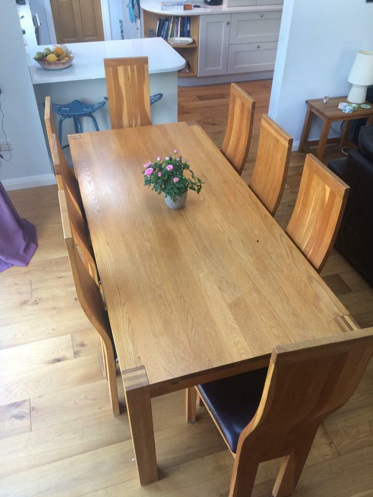 solid oak dining table and 8 chairs - Oak Dining Table And 8 Chairs