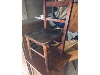 small antique childs chair