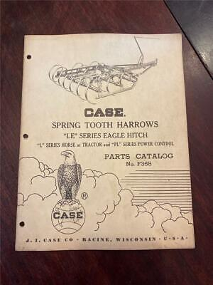 Vintage Case Spring Tooth Harrow Le Eagle Hitch L Series Horse-tractor-pl F358