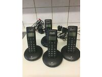 BT Graphite 2500 Quad Cordless Phone with Answering Machine