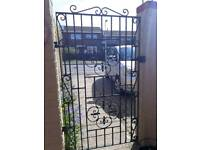 Wrought Iron Gate 33inches wide x 61inches high. Railings 82inches long x 42inches high. £90 both
