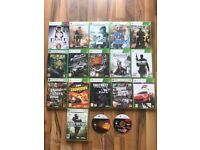 18 xbox 360 games , £3 each or £40 the lot , perfect working order ! price stands , no offers !