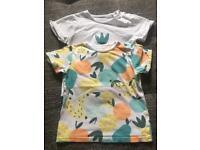 2x baby boy t-shirt 18-24 months