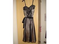 Ladies Black and Gold Party Dress