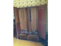 Edwardian Oak Wardrobe