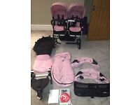 Bugaboo Donkey Duo Pink with all extras
