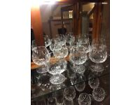 Seven Waterford crystal Lismore cut Brandy balloon glasses