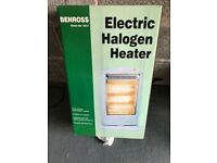 Electric Halogen Heater Fire