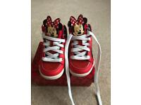 Disney Minnie Mouse HiTop Girls Trainers UK C7