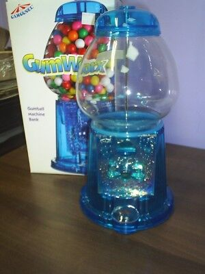 Best Gift New Blue Acrylic GumBall Machine with free ford gumballs