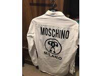 Size large men's moschino Milano shirt in like new condition slim fit