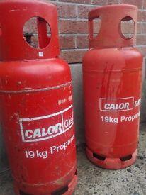 19kg Calor Propane Gas Bottles - 2 available