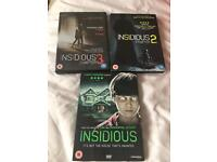 Insidious dvds 1 2 3
