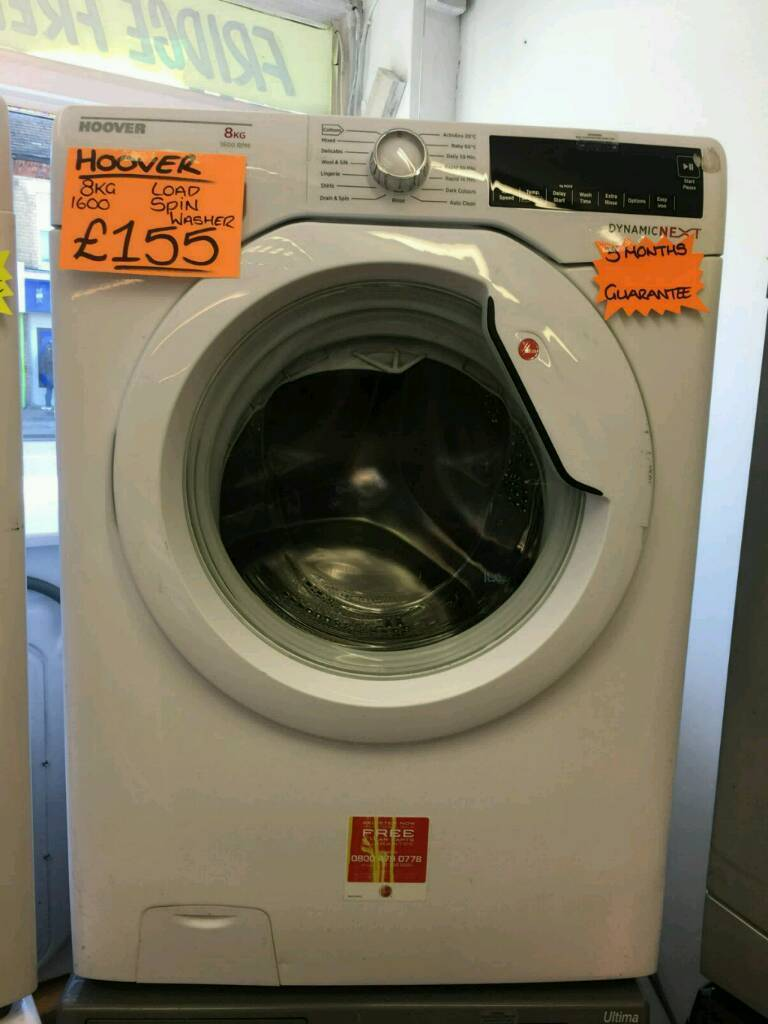 HOOVER 8 KG 1600 SPIN WASHING MACHINE IN WHITE