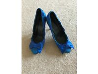 Office blue glitter heels - size 5 worn once in excellent condition