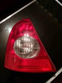 Renault Clio back left/Passenger side tail light
