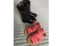 Girls bundles of clothes and shoes (Age 1 to 2)