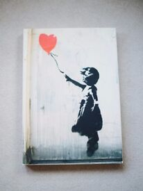 BANKSY print, canvas on a wooden frame