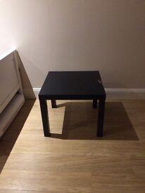 Light, square, black ikea table