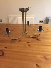 Brass vintage style chandelier £10