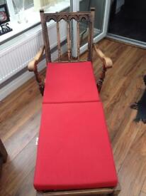 Ercol 1965 lounger chair and footstool with cushions