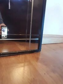 Sliding mirrored wardrobe doors x 3 with track