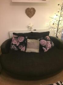 3 seater love sofa and snuggler chair