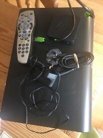Sky HD box, remote, Wifi connector