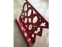 RED METAL COOKERY COOK BOOK STAND HOLDER