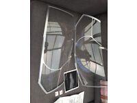OEM VW TRANSPORTER T5 2010> HEADLIGHT COVERS PROTECTORS BEAM CONTINENTAL DRIVING ZGB7E2071101
