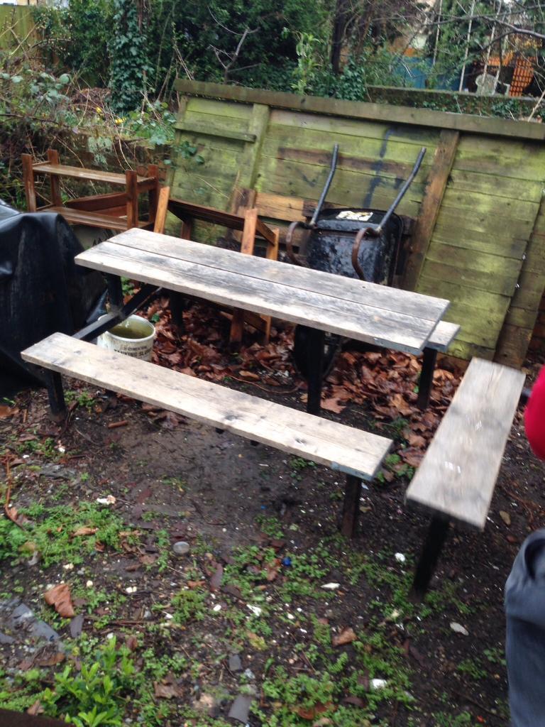 4 x pub garden table benches