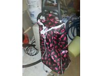 Pink and Black Trolley bag