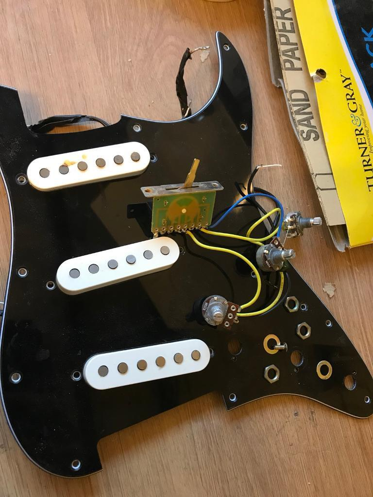Loaded Pickguard Duncan Designed Sc 101 Pickup Set In Blackpool Wiring Guitar Pickups