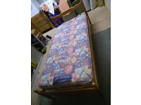 Single bed with nearly new Mattress - £50