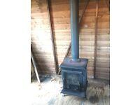 Multi fuel log burner with flue