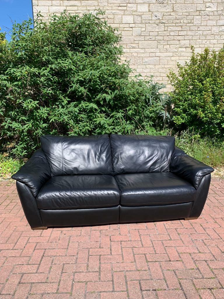 Astounding Ikea Black Leather Sofa Bed In Portland Dorset Gumtree Onthecornerstone Fun Painted Chair Ideas Images Onthecornerstoneorg