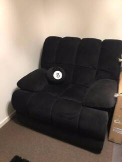 Good condition recliner - Black/Fabric/Manual