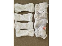 4 Pop n Gro nappies with bamboo inserts