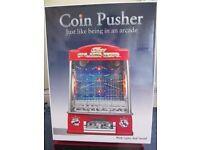 Coin push tipping point tabletop arcade game boxed