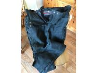 Leather Motor Cycle Jeans