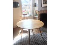 Ercol retro vintage blond Elm drop leaf table