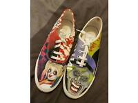 ONE OF A KIND ~ Handpainted Harley Quinn and Joker shoes