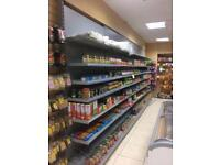 Top quality wall metal click shelving . 22 mtr bays abailable