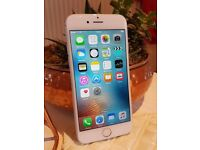 Apple iPhone 6 16GB Silver (Unlocked) Smartphone A1586 with new Tech21 Screen Protector